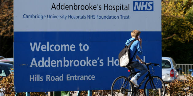 File photo dated 26/10/2011 of signage outside Addenbrooke's Hospital in Cambridge, after Myles Bradbury, 41, a paediatric doctor at Addenbrooke's Hospital, Cambridge, appeared at Cambridge Magistrates' Court accused of sexual offences against cancer sufferers aged as young as 11.