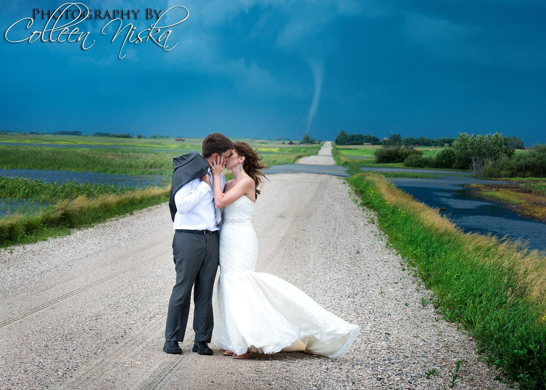 tornado wedding photos