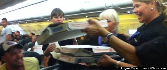 plane pizza party
