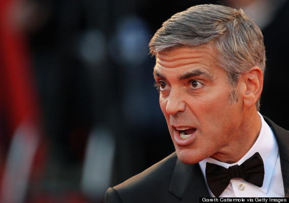 angry george clooney