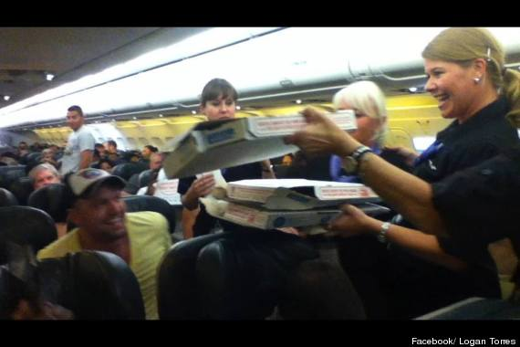 pilot buys pizza
