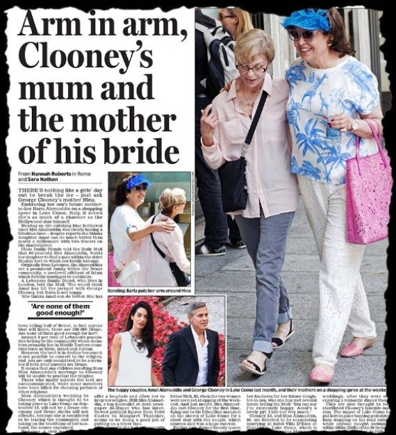 daily mail george clooney article