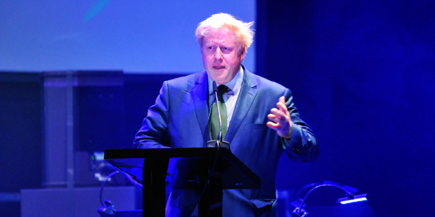 LONDON, ENGLAND - JUNE 11:  Mayor of London Boris Johnson gives a speech as he attends the inaugural London Music Awards which took place at The Roundhouse on June 11, 2014 in London, England.  (Photo by Gareth Cattermole/Getty Images for London Music Awards)