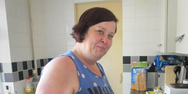 Deirdre Kelly, known as White Dee in the Channel 4 series Benefits Street, at her home in James Turner Street, Winson Green in Birmingham and who claims to have been offered a musical career as a rapper.