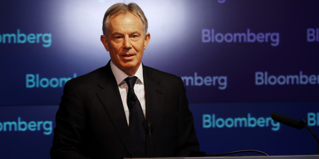 LONDON, ENGLAND - APRIL 23:  Former British Prime Minister Tony Blair speaks at Bloomberg on April 23, 2014 in London, England. In his speech to financial workers Mr Blair warned of the need for the west to focus on the threat of Islamic extremism.  (Photo by Peter Macdiarmid/Getty Images)