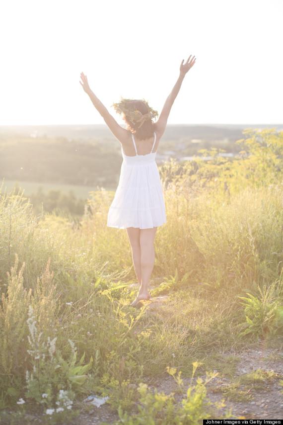 young woman sunshine