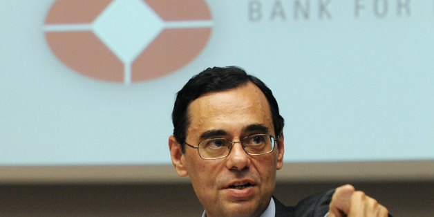 Jaime Caruana, general manager of the BIS (Bank for International Settlements), delivers a speech at a press conference during the Bank's Annual General Meeting in Basel on June 28, 2010. AFP PHOTO / SEBASTIEN BOZON (Photo credit should read SEBASTIEN BOZON/AFP/Getty Images)