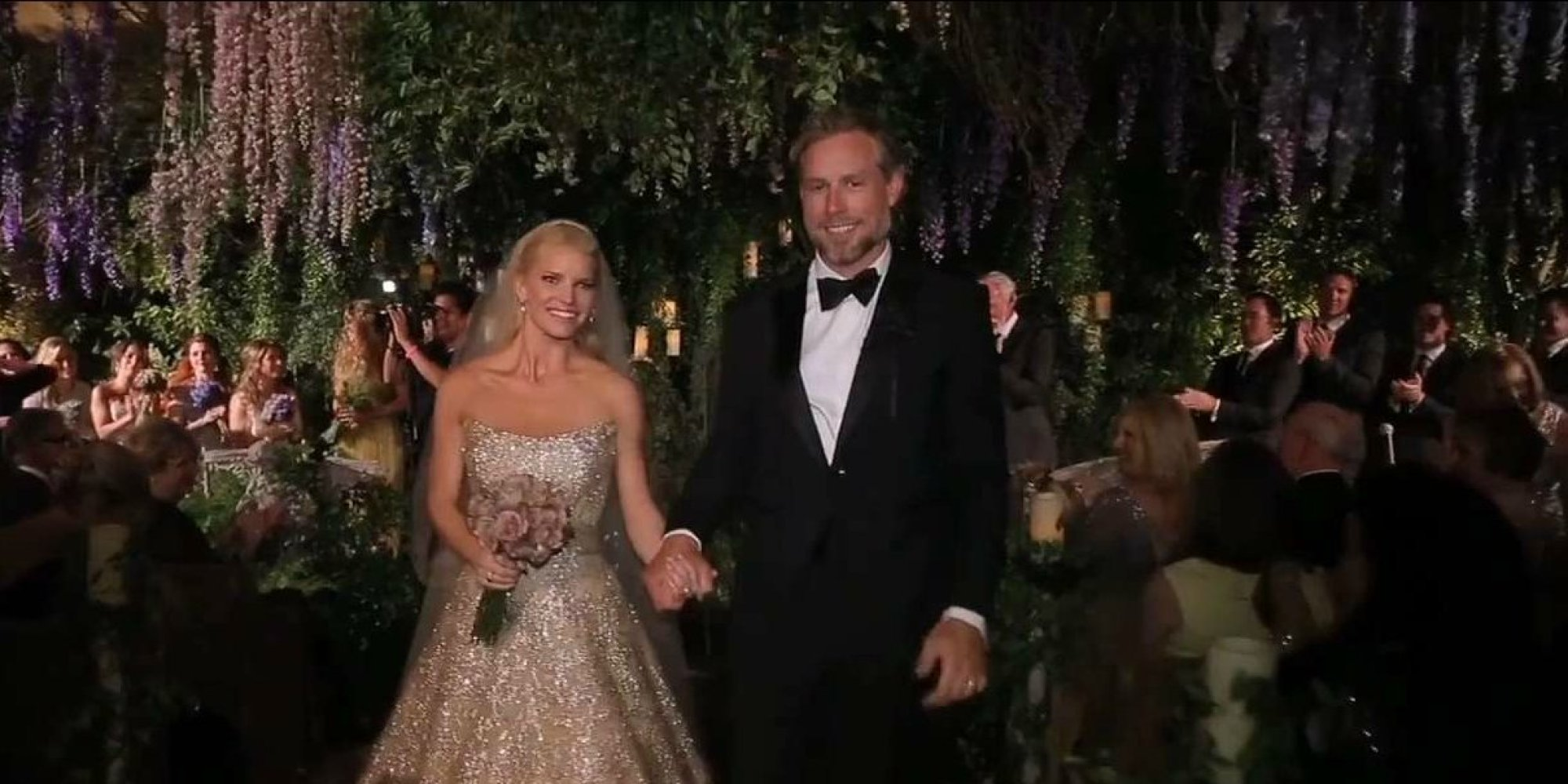 Jessica simpsons wedding video has arrived and its as amazing as jessica simpsons wedding video has arrived and its as amazing as you expected it to be huffpost junglespirit Images