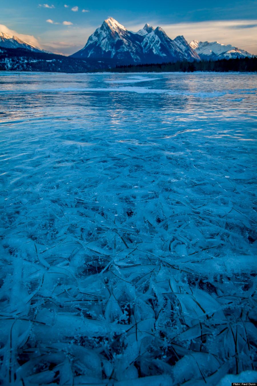 lake abraham ice