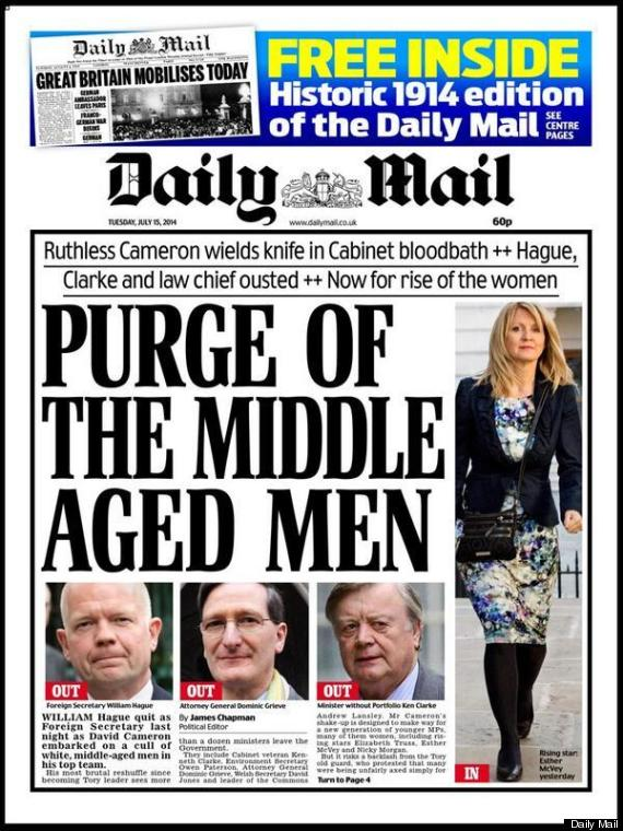 daily mail reshuffle