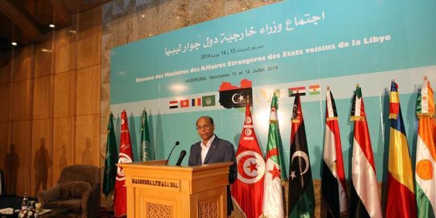 Le président Moncef Marzouki à l'ouverture de la réunion des ministres des AE des pays voisins