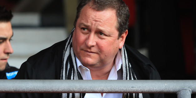 SOUTHAMPTON, ENGLAND - MARCH 29:  Newcastle United owner Mike Ashley takes his seat prior to kickoff during the Barclays Premier League match between Southampton and Newcastle United at St Mary's Stadium on March 29, 2014 in Southampton, England.  (Photo by Richard Heathcote/Getty Images)