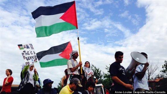 manifestation gaza montreal