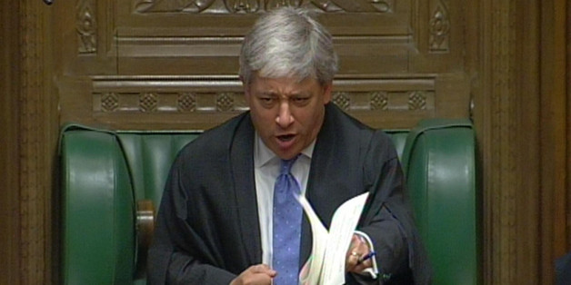 Speaker John Bercow during Prime Minister's Questions in the House of Commons, London.