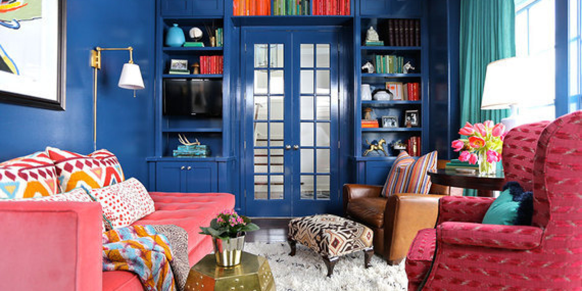 6 Tips For Using Bold Color In The Home Huffpost: bold house colors