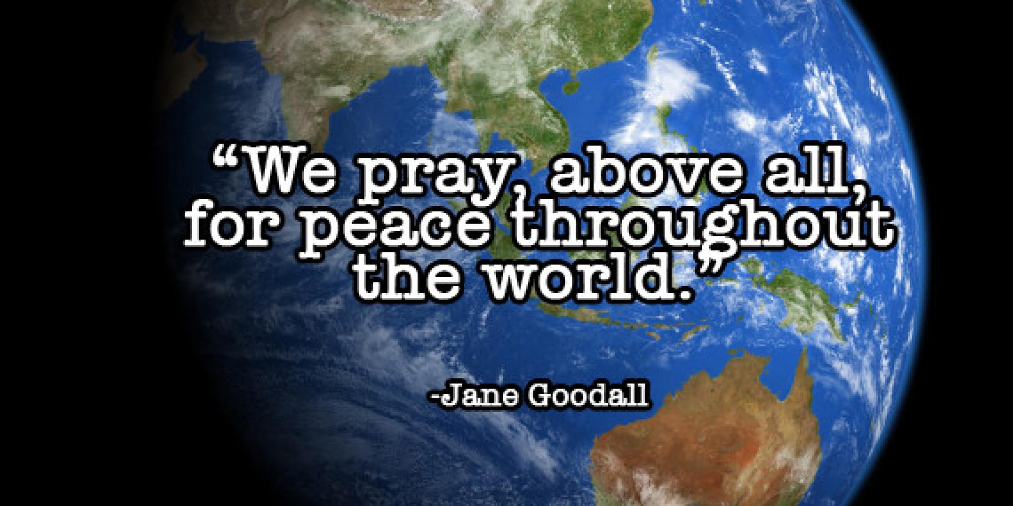 Berühmt Daily Meditation: Pray For World Peace | HuffPost DI42