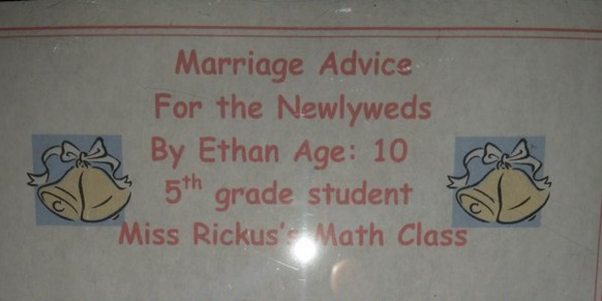 10 Year Old S Marriage Advice Is So Spot On You Ll Wish Came Up With It Huffpost