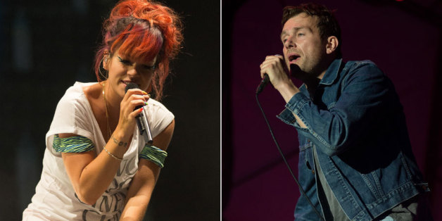Lily Allen and Damon Albarn