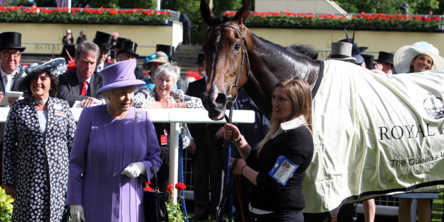 Queen Elizabeth II's horse Estimate ridden by Ryan Moore after winning the Queen's Vase during day four of the 2012 Royal Ascot meeting at Ascot Racecourse, Berkshire.