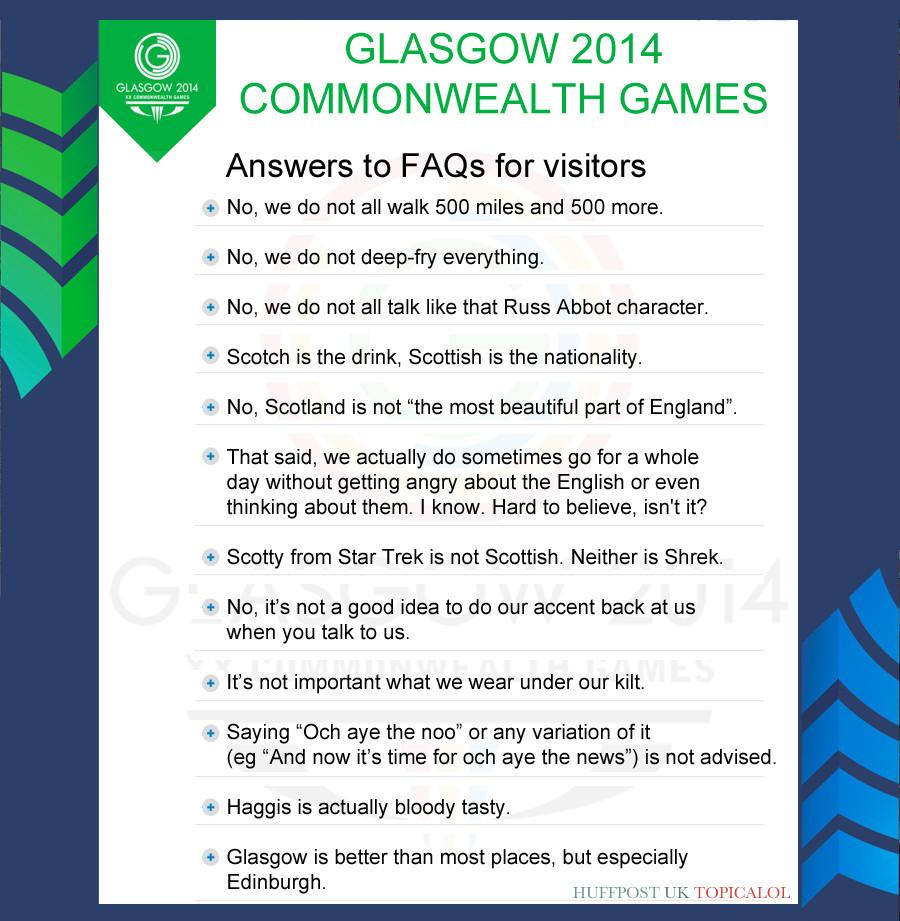 glasgow commonwealth games faq spoof