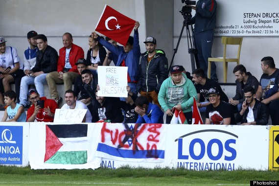 pro palestinian protesters invade pitch