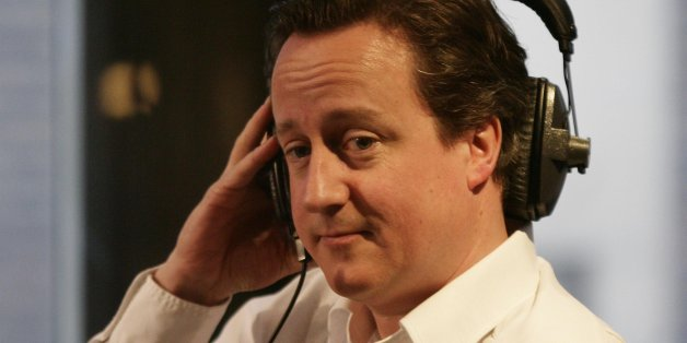 Conservative Leader David Cameron appears as a guest on Christian O'Connell's Breakfast Show, at Absolute Radio in central London.