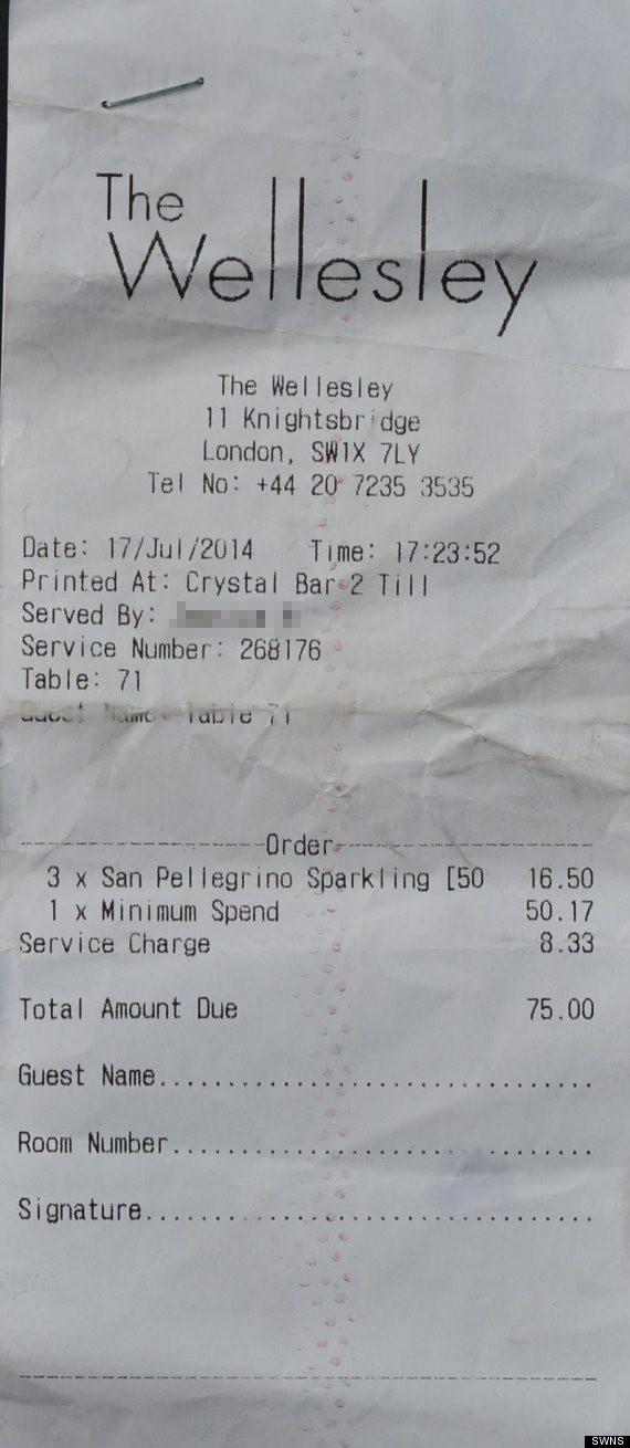 water receipt