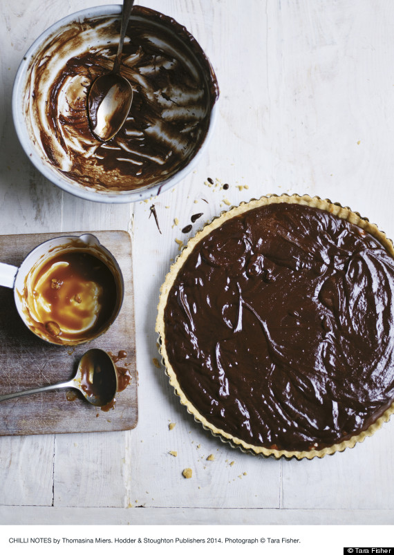 chocolate and chilli tart