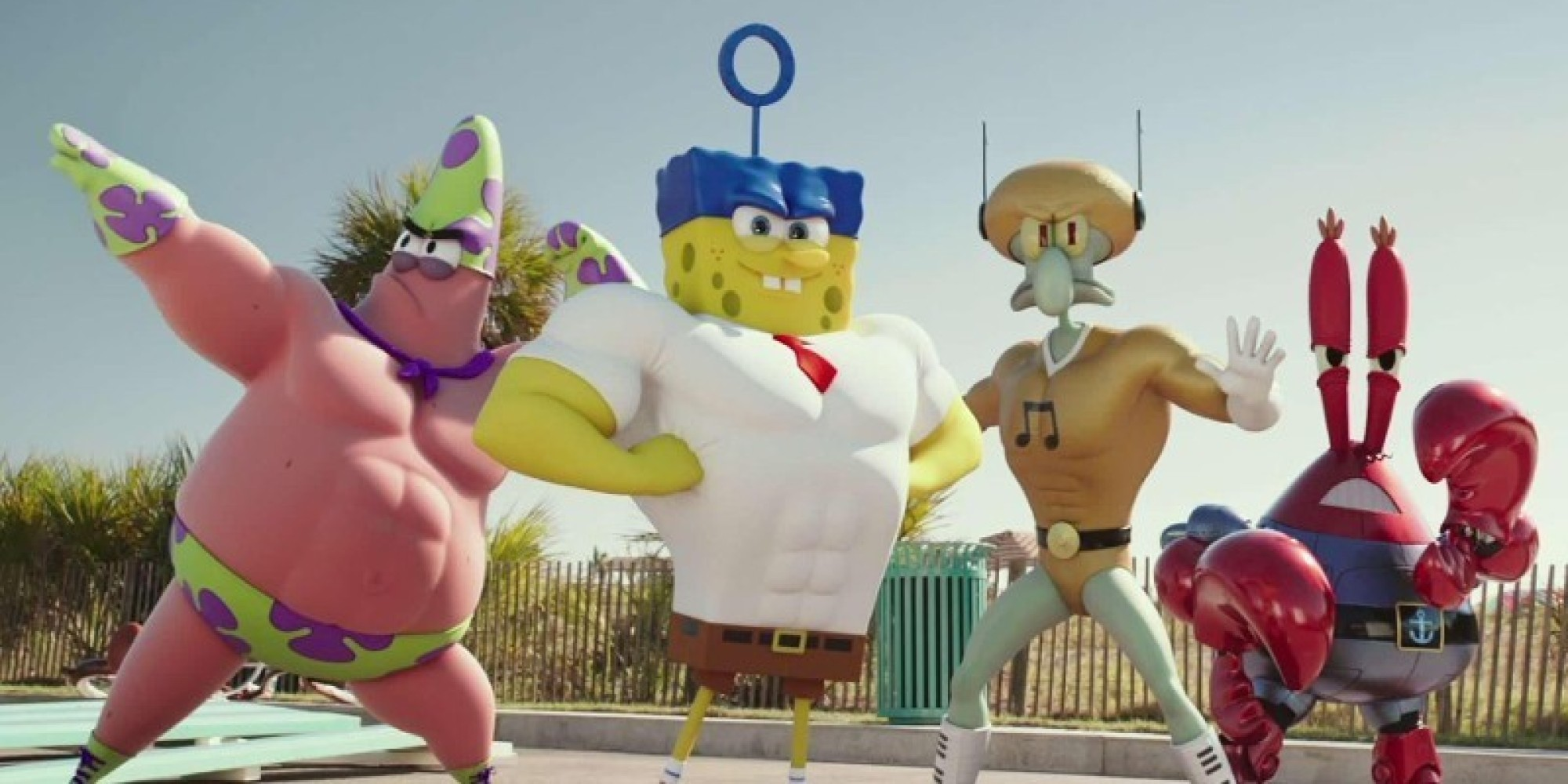 spongebob squarepants sponge out of water u0027 trailer brings