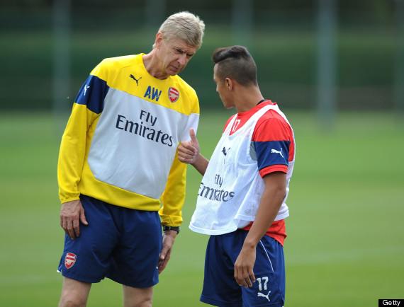 Alexis Sanchez Trains With Arsenal Pictures