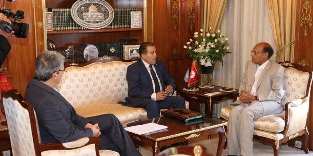 rencontre de Moncef Marzouki avec Mongi Hamdi le 31 Aout 2014 au palais de Carthage
