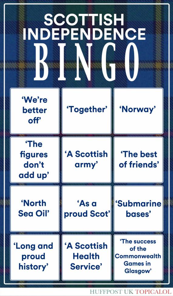 scottish independence bingo