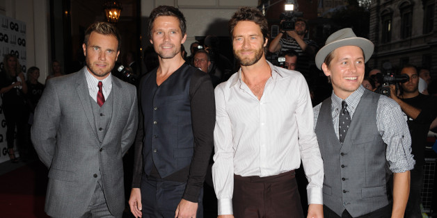 Gary Barlow, Jason Orange, Howard Donald and Mark Owen of Take That arrive at the 2009 GQ Men of the Year Awards at the Royal Opera House in Covent Garden, London