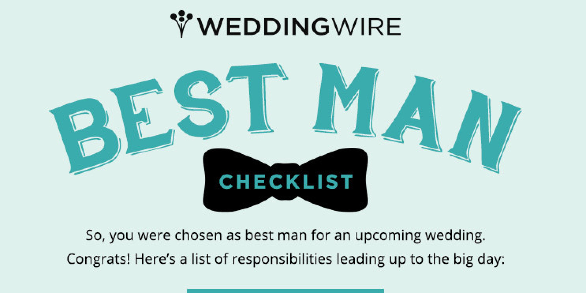 Everything You Need To Know About Being An Awesome Best Man In One Simple Chart Huffpost