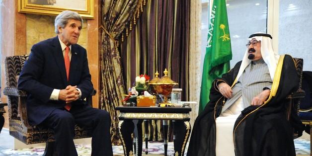 Le Roi Abdallah avec John Kerry