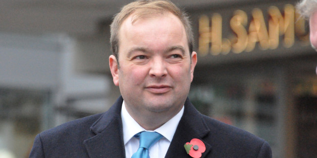 James Duddridge, Conservative MP for Rochford and Southend East, at an Armistice ceremony in Southend.