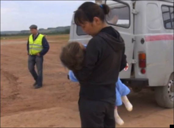 little girl saved by puppy