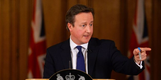 "Prime Minister David Cameron addresses the media during a press conference in 10 Downing Street, London, where he promised that ""money is no object"" in providing relief to communities affected by floods, as he warned that the country faces ""a long haul"" to recover from the devastation of recent weeks."