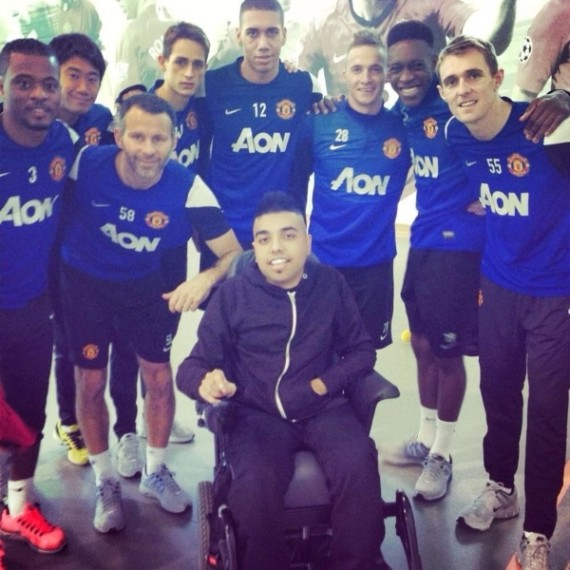 manchester united wheelchair bound coach