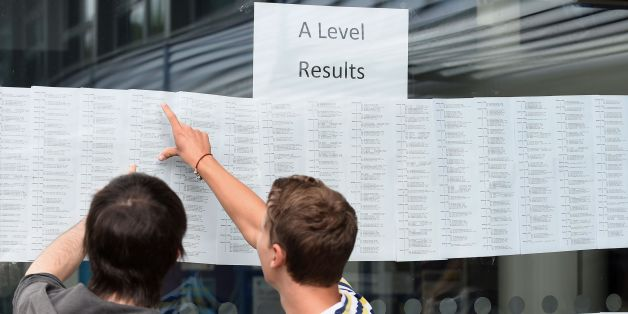 Leaving cert students from Trinity Comprehensive in Ballymun (l-r) Tara Gorey, Michelle Donoghue and Sharon Donoghue celebrate with their results.