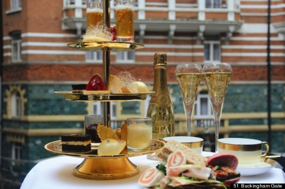 24 karat gold afternoon tea
