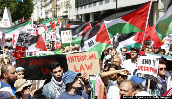 gaza demonstration uk