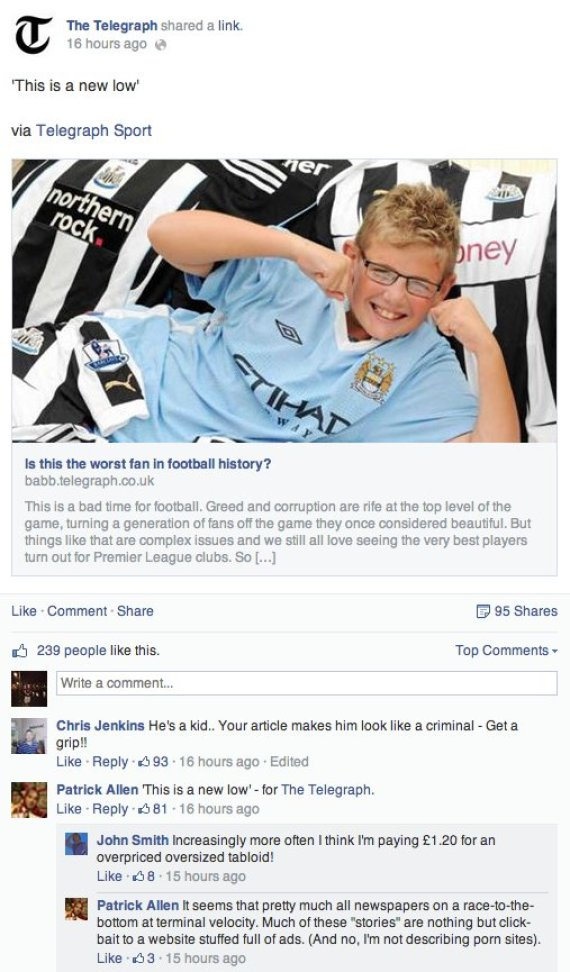 newcastle fan manchester city