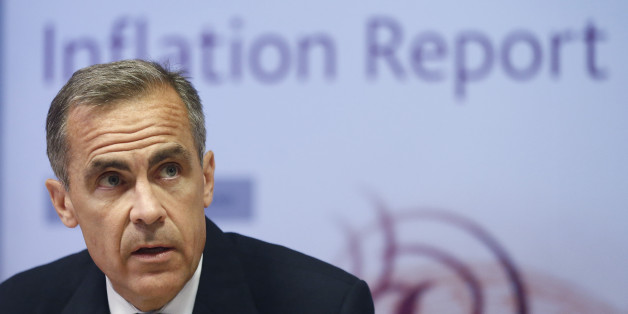 Mark Carney, governor of the Bank of England, speaks during a news conference in London, U.K., on Wednesday, Aug. 13, 2014. The pound strengthened a third day versus the euro as investors prepared to mine the Bank of England's quarterly Inflation Report for guidance on when the bank will start to increase interest rates. Photographer: Simon Dawson/Bloomberg via Getty Images
