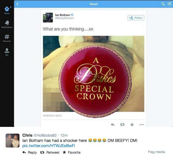 ian botham hacked twitter