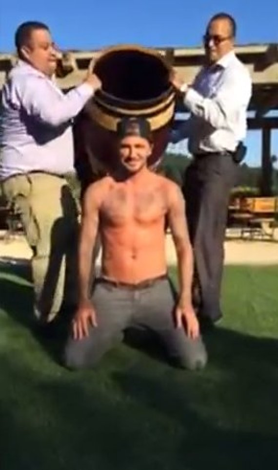 david beckham ice bucket challenge