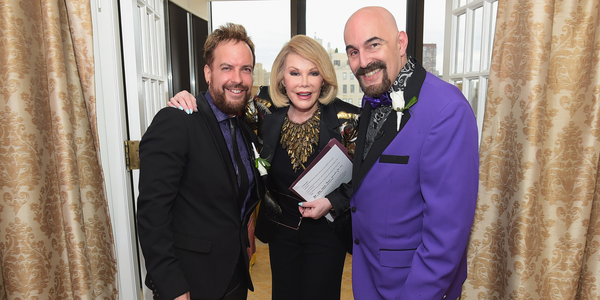 Joan Rivers Marries Gay Couple In New York For The Second Time PHOTOS