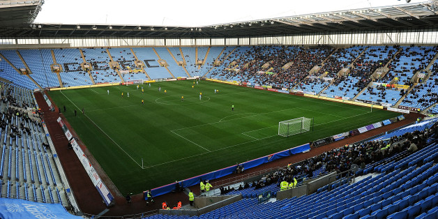 COVENTRY, ENGLAND - NOVEMBER 03: General view of action during the FA Cup With Budweiser 1st Round match between Coventry City and Arlesey at the Ricoh Arena on November 03, 2012 in Coventry, England. (Photo by Tom Dulat/Getty Images)