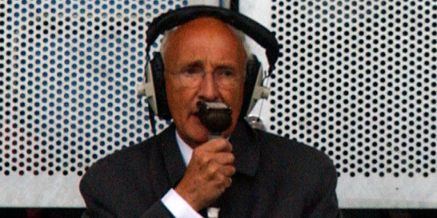 "Davies during his last ""Match of the Day"" commentary in 2004"