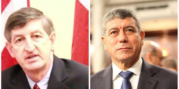 Jacob Wales, ambassadeur des Etats-Unis et Ghazi Jeribi, ministre tunisien de la Défense